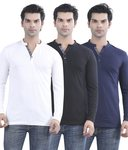 Maniac Multicolour Cotton T-shirt - Pack Of 3