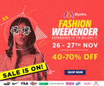 Myntra Fashion Weekender (26th & 27th Nov)