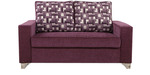 Lexus Two Seater Sofa in Purple Colour by ARRA