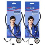Healthgenie Dual Aluminum Non Chill Stethoscope HG-201G (Grey) Pack of 2