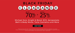 Elitify Black friday sale : Up to 70% off + extra 25% off on fashion brands like Michael kors, Knight and many more.