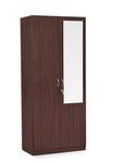 HomeTown Allen 2-Door Wardrobe with Mirror (Walnut)