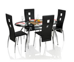 Royal Oak Roger Dining Set with 4 Chairs - Oval @ Rs.11992