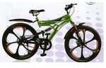 Atlas Torpedo SS Dual Disc Bicycle-Green(Size-26T)