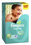 Pampers Medium Size Diapers Jumbo Pack (66 Count)