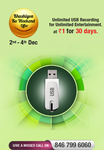 Videocon d2h Khushiyon Ka Weekend Offer - Unlimited USB Recording service