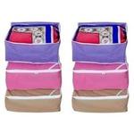 Fashion Bizz Regular Multi-Saree Cover 6-Pcs Combo