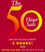 50 Hours sale on Top Brands Clothing & Accessories