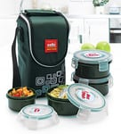 Cello Max Fresh Green 300 ML Lunch Boxes with Bag - Set of 4