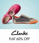 Flat 60% Off on Clrks Kids Footwear