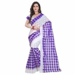 Indian Beauty Cotton Without Blouse Saree