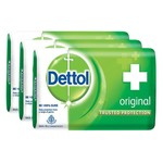 Dettol Soap Value Pack, Original - 125gm, Pack of 3