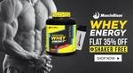 MuscleBlaze Whey Energy, 4.4 lb Chocolate + shaker free