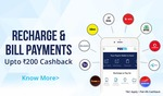 5% cashback (Max. Rs.200) on recharge/bill payment