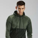 HRX by Hrithik Roshan Olive Green & Black Hooded Jacket @ Myntra