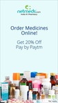 Flat 20% OFF on all medicines at Netmeds when you pay via Paytm (All users and No minimum order till 31st December)