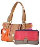 Snapdeal - Butterflies Multi Faux Leather Satchel Bag