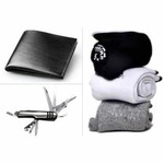 Combo of Pure Cotton Socks Black Wallet And Swiss knife