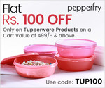 Flat 100/- Off Only on Tupperware Products on 499 & above