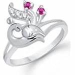 Meenaz Silver Diamond Ring @161.10/- Regular Price Rs 655/-