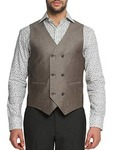 Solid Taupe Linen Waist Coat @ limeroad