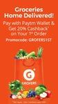 Flat 20% Cashback upto Rs. 600 on 1st order on Grofers