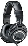 Audio Technica ATH-M50x Closed-back Dynamic Wired Headphones  (Black, Over the Ear)