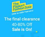 Flipkart Fashion Sale : Great offers on Trendy Brands
