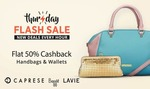 Flash sale – Flat 50% Cashback from 10am – 2pm discount offer