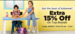 Jabong - Kidswear Upto 80% Off + Extra 15% Off from 10 am to 2pm