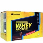 MuscleBlaze Whey Protein Traveller's Pack, 45 sachets/pack Deluxe Chocolate