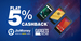 Get Flat 5% cashback on Gadgets Now via jiomoney