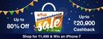 Paytm Independence Day Sale: Upto 80% Off & Upto ₹20,000 Cashback