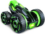 Building Mart 30 KM/H High Speed Shock Absorbing 5-Wheeled 6CH 2-sided 360° Rotating RC Tumbling Stunt Car With LED Lights (Green)