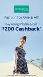 Flat Rs.200 Cashback pay using Paytm Wallet at Pantaloons