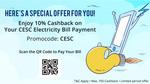 Paytm :  Enjoy 10% Cashback on Your CESC Electricity Bill Payment