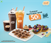 Flat 50% Off on Mad Over Donuts (Min order Rs.500)