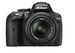 Nikon D5300 (with AF-P 18-55 mm VR Kit Lens) 24.2 MP DSLR Camera (Black) + FREE Nikon DSLR Bag + 16GB Memory Card