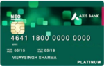 (Still Working)Get Axis Neo Credit Card for Free + Rs. 500 Amazon Voucher