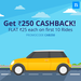 Get FLAT Rs 25 Cashback each on first 10 Rides booked on Niki