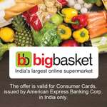 BigBasket - 15% instant discount with Amex cards (Extended till 15th May)