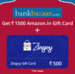 Get 1500 Amazon Voucher + Rs. 500 Zingoy Gift Card + 240 Zingoy Cashback when you apply for a credit Card via Zingoy