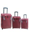 Safari Vogue VJ 3Pc Travel Luggage Set, Red@8025 mrp 16050