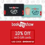 Flat 10% OFF on BookMyShow E-Gift at woohoo
