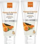 VLCC Papaya & Apricot (Pack of 2) Scrub  (160 g)
