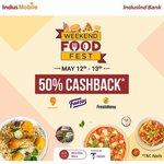 IndusMobile Weekend Food Fest - Get 50% cashback on Food Orders