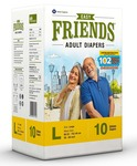 Friends Adult Diaper Limited Edition 102 Not Out 10's Pack (Large)