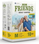 Friends Adult Diaper Limited Edition 102 Not Out 10's Pack (Medium