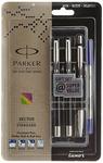 Parker Vector Standard Fountain Pen, Roller Ball Pen and Ball Pen (Black)