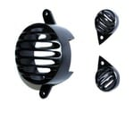 Generic (unbranded) Combo of Brake and Pilot Light Grills for Royal Enfield (Set of 3, Black